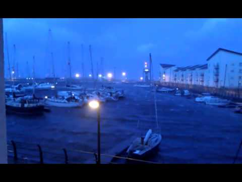 Winter storm at Ardrossan Harbour