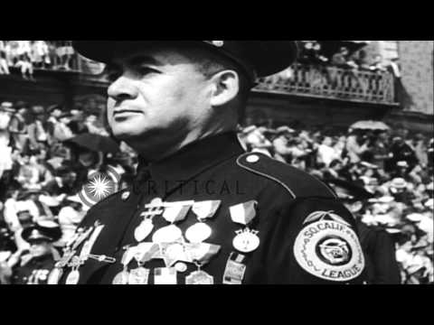 A huge parade on 28th anniversary of 1910 revolt in Mexico City, Mexico. HD Stock Footage