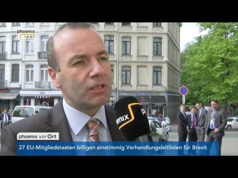 EU-Sondergipfel: Manfred Weber und Udo Bullmann im Talk mit Christoph Nüse am 29.04.2017