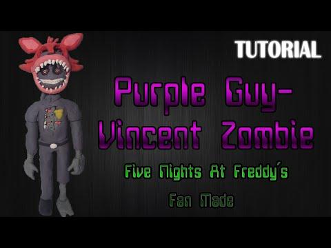 Tutorial Purple Guy - Vincent Zombie en Plastilina | FNaF Fan Made | Fan Art Project