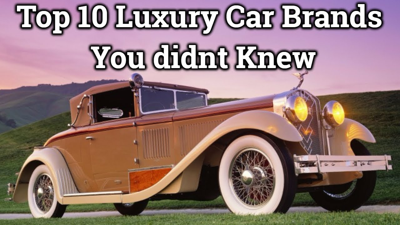 Top 10 Luxury Car Brands In The World That You Didnt Knew - YouTube