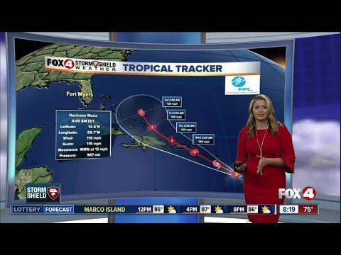 Hurricane Maria -- 8am Monday update