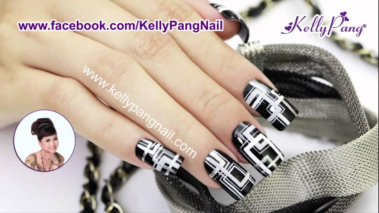 KellyPang Nail – Video dạy vẽ móng Ảo Ảnh Đêm - YouTube