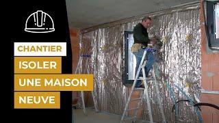 Chantier-référence en Gironde - Isolation des murs d'une maison d'architecte
