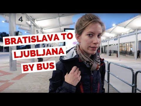 Bratislava to Ljubljana by Bus Travel Vlog