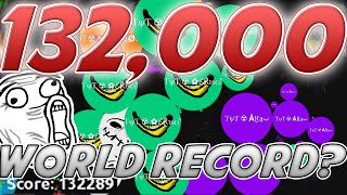 132.000 Mass // AGARIO WORLD RECORD // TYT Clan Agar.io Highscore
