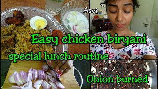 Indian lunch routine|guest special|easy chicken biryani|A day in my life with baby|mommy vlog|Asvi