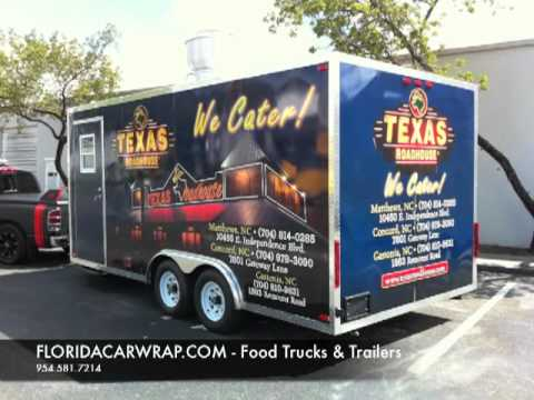 3M Certified Food trucks Concession Trailers wrap Fort Lauderdale, Miami, west palm beach, Weston