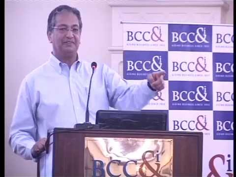 Dr  Vishwapati Trivedi speaks at BCC&I's seminar on Bulk Cargo Transloading
