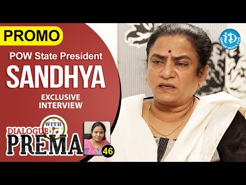 POW State President Sandhya Exclusive Interview PROMO | Dialogue With Prema | Celebration Of Life 46