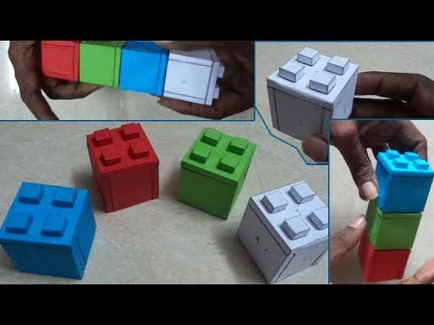 How to make Paper Lego Blocks