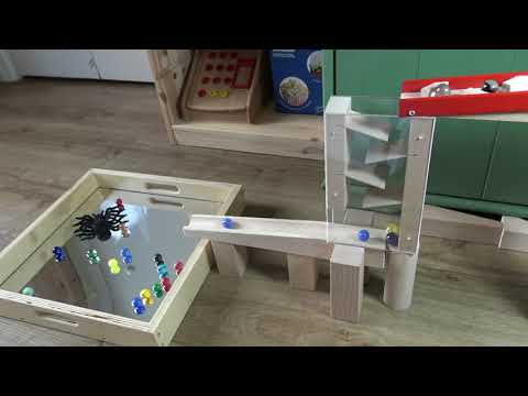 Wooden marble run track Haba wooden marble