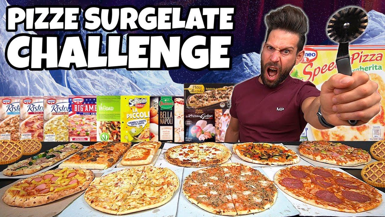 PIZZE SURGELATE CHALLENGE con rinforzo di CROSTATA - (4 KG) - MAN VS FOOD