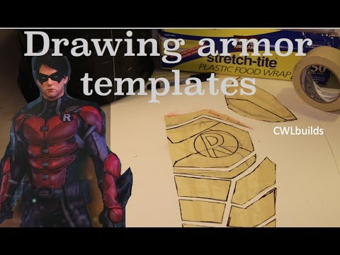 Drawing Armor Templates - YouTube