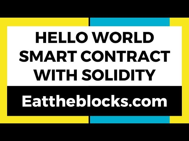Hello World Smart Contract With Solidity | Ep 2