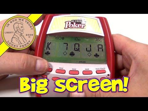 Big Screen Poker Electronic Handheld Game, 2005 Radica