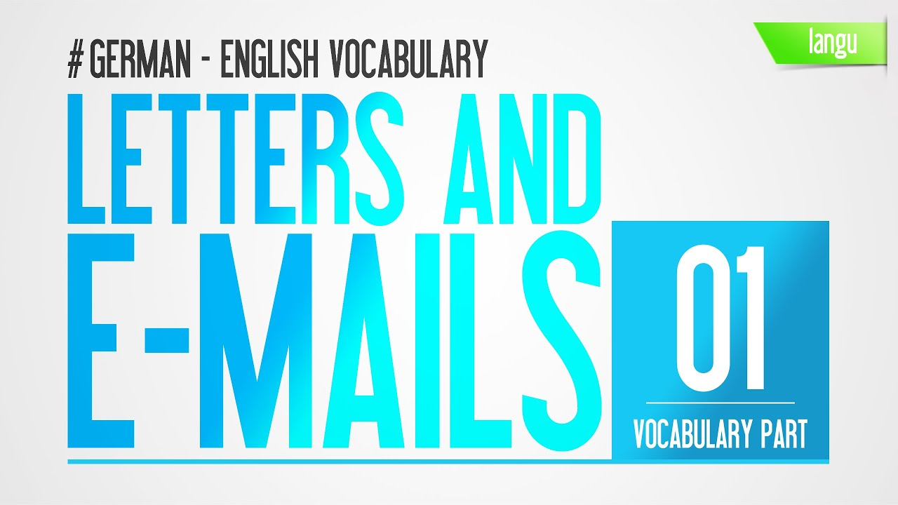 Letters and E-Mails German English vocabulary audio HD lesson basic ...