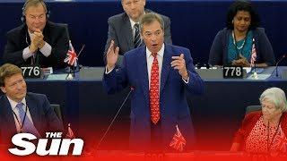 Nigel Farage calls Luxembourg Prime Minister Xavier Bettel a 'pipsqueak'