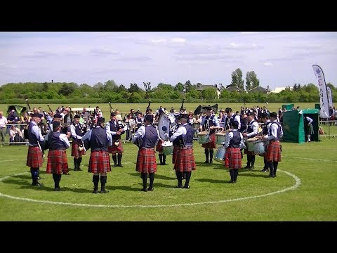 RAFFREY PIPE BAND AT THE BRITISH PIPE BAND CHAMPIONSHIPS 2018