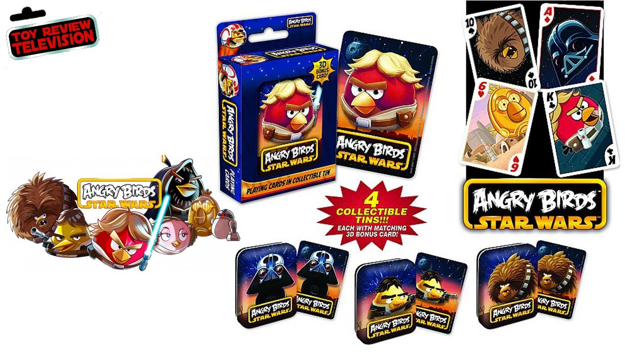 Angry Birds Star Wars Playing Cards Collectors Tin Pack Review - YouTube