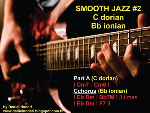 Backing track - C dorian Bb ionian SMOOTH JAZZ #2