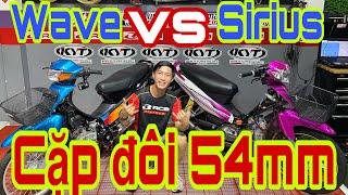 Hot hot 54mm ra một cặp Wave 110 với Sirius - Đông Nghi Racing