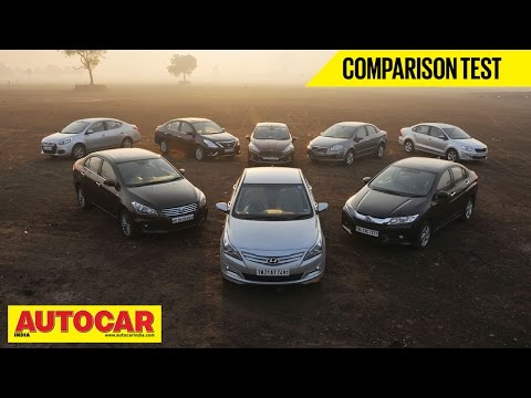 8 Car Showdown | Mid-Size Sedan Comparison Test | Autocar India