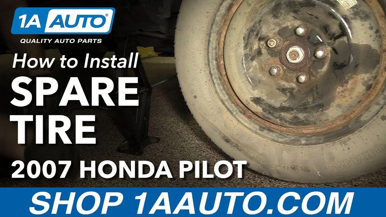 How To Install Spare Tire 03 08 Honda Pilot Youtube