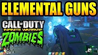Zombies In Spaceland: ELEMENTAL GUN UPGRADES! Fire, Electricity, Wind, & Venom (IW Zombies)