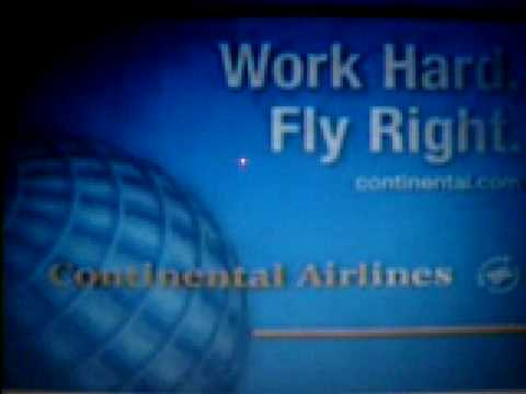 "Continental Airlines Commercial 3 ""clouds"""