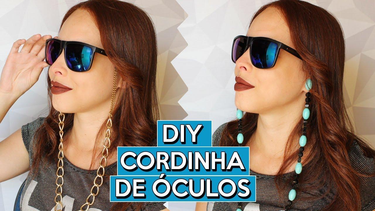 DIY CORDINHA DE ÓCULOS   2 MODELOS   DAIENE CALMON - YouTube ad5b921def