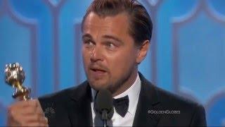 Речь Леонардо ДиКаприо на Золотом Глобусе 2016 (рус суб) / Dicaprio's speech Golden Globe 2016