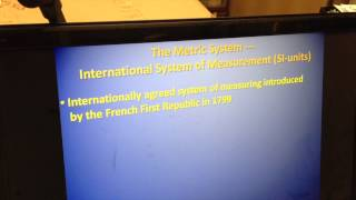 CAS Workshop on Meet the Metric System by Jack Pierce