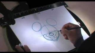 How to draw Mickey Mouse. Comment Dessiner Mickey Mouse ?