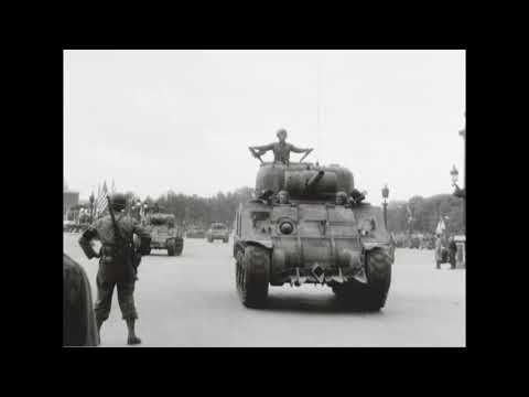 Parade of US Forces in Paris, France