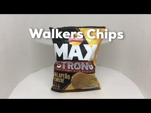Walkers Max Strong Jalapeno & Cheese Crisps