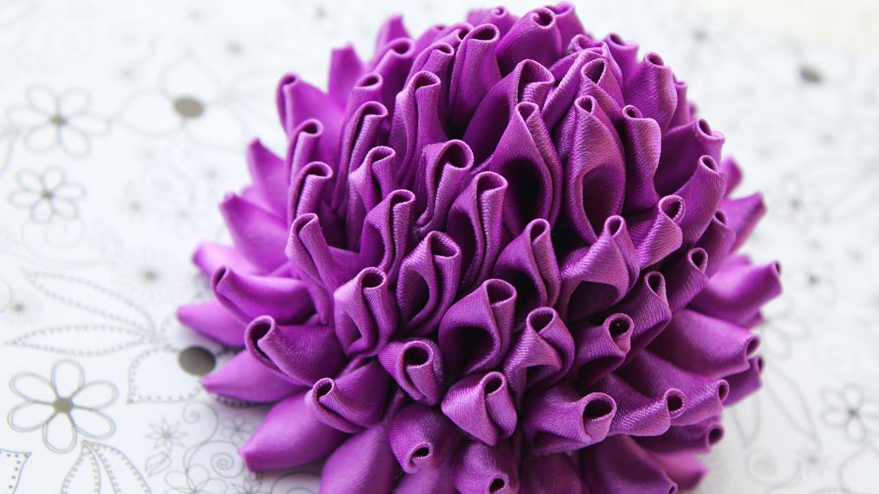 Канзаши необычный цветок