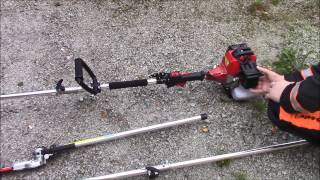 4in1 - Brush Cutter - First Try! - (Hedge Trimmer, Strimmer, Brush Cutter, Chainsaw).