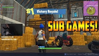 Fortnite Twitch Sub Games Victory! - 4000 V-Bucks Giveaway!