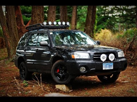 2001 Subaru Outback Custom >> 2003 Subaru Forester Off Road Lighting - YouTube