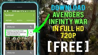 Download Avengers: Infinity War in 720p [HD] legal way to download