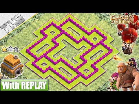 NEW BEST TH6 Base 2019 With REPLAY! Clash Of Clans