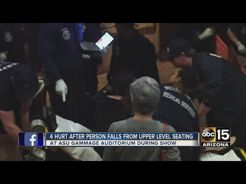 4 hurt after man falls from balcony at ASU Gammage Auditorium