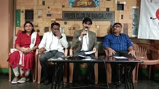 Dr. Mahanthesh. R. Charantimath Addressing Media in Press club of Bangalore