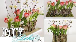 Repeat youtube video DIY: Ausgefallene Blumendeko mit Holz selber machen | Deko Kitchen