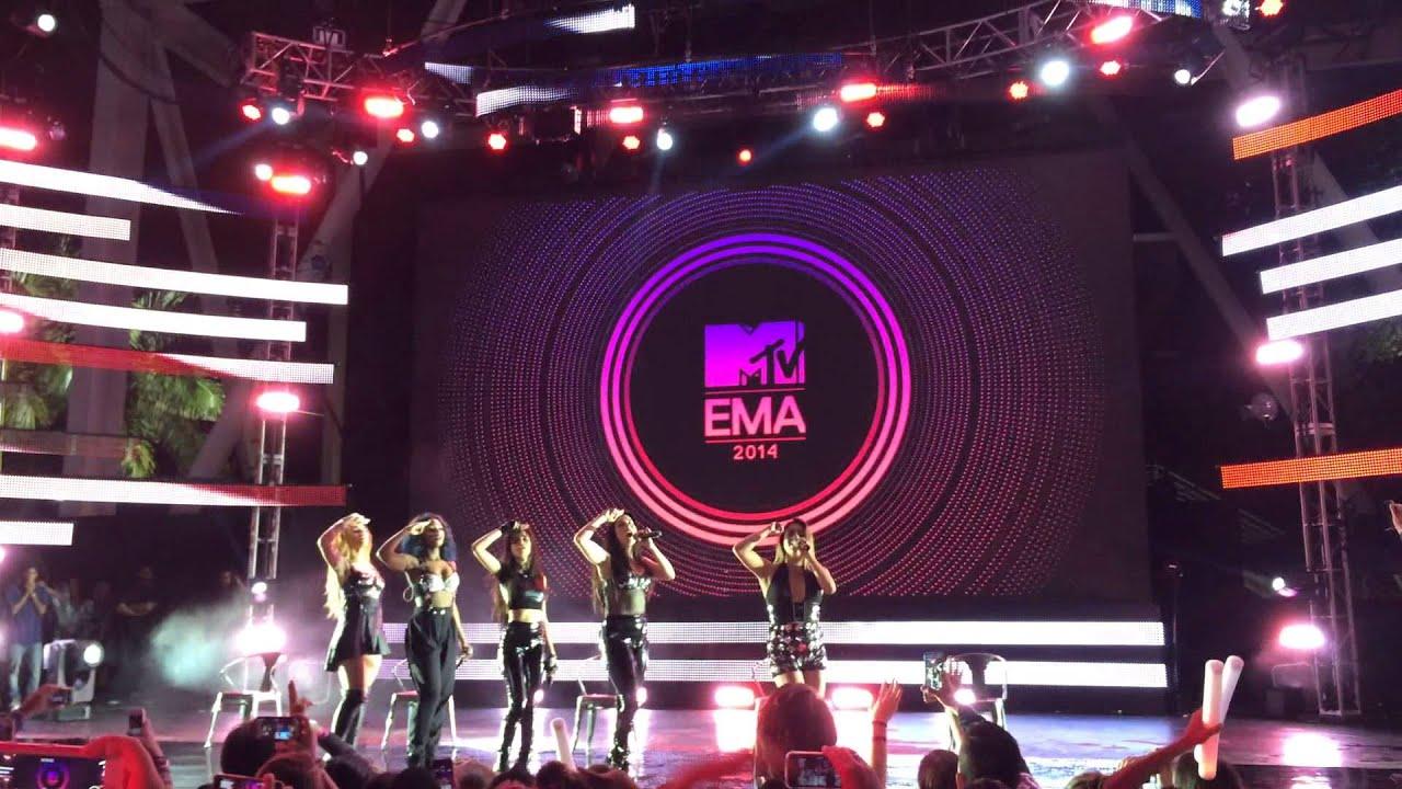 Fifth Harmony performing Bo$$ at EMAs preshow