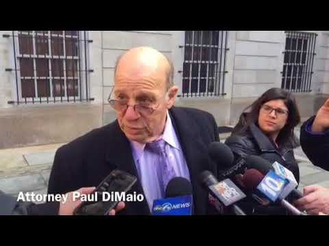 Attorney Paul DiMaio speaks to press