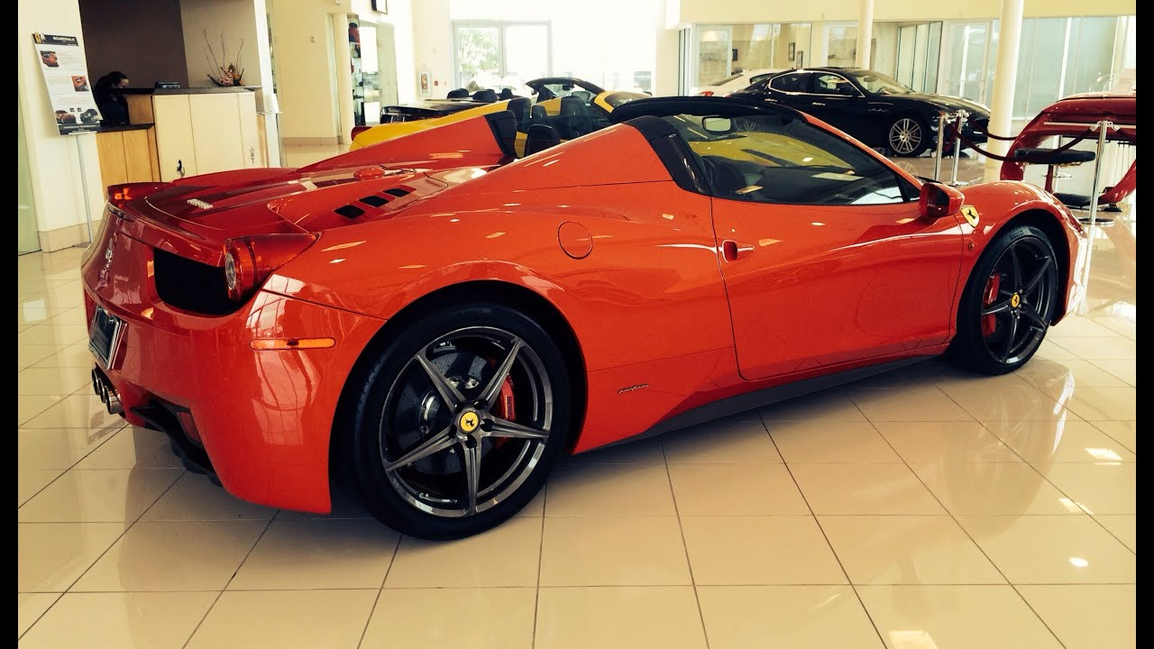 2013/2014 Ferrari 458 Spider Exhaust, Start Up U0026 In Depth Review   YouTube