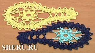 Bruges Crochet Lace Tutorial 9 часть 1 из 2   Брюггское кружево