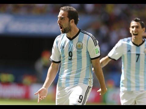 Gol Gonzalo Higuain Argentina vs Belgica Copa Mundial Brasil 2014